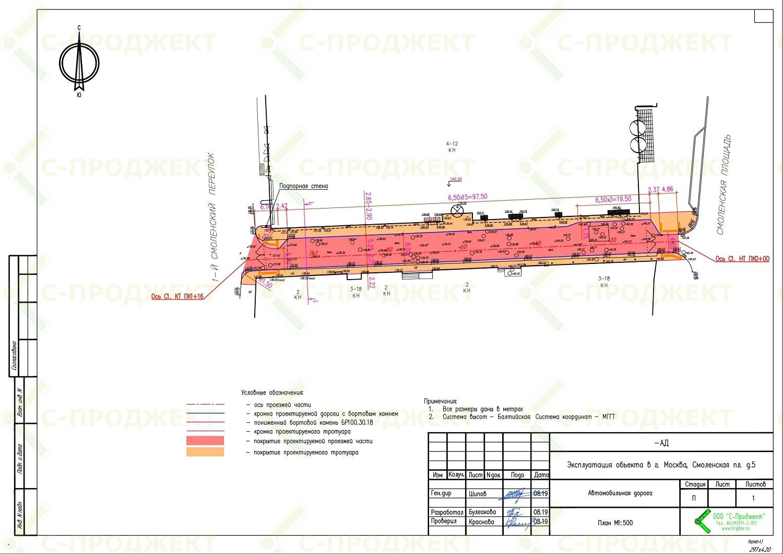 Проект строительства дороги- линейного объекта