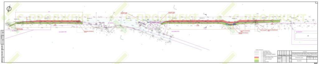 Схема размещения объекта на земельных участках придорожной полосы